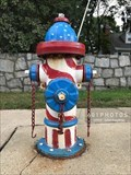 Image for Patriotic Parade of Painted Hydrants, No. 3 - Cumberland, Rhode Island