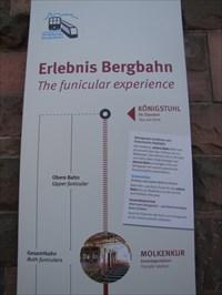 Upper Funicular Sign, Heidelberg, Germany