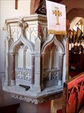 Image for Stone Pulpit - Church of The Holy Cross - Cowbridge, Vale of Glamorgan, Wales.