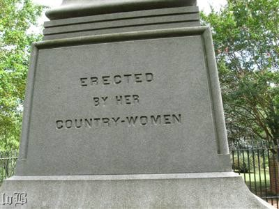 A monument for a woman erected by women -- the first