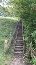 Image for Stairway at a Hiking Trail near the Border - Riehen, BS, Switzerland