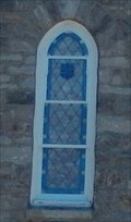 Image for Stained Glass Window above the front door-St John the Evangelist Catholic Church - Hydes MD