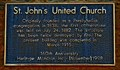 Image for St. John's United Church - 160 Years - Moncton, NB