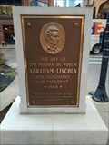 Image for Site Abraham Lincoln Nominated for President marker- Chicago, IL