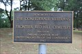 Image for Frontier Red Hill Cemetery Confederate Veterans Memorial - Van Zandt County, TX