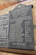 Image for Memorial to the ringers of St.Andrews, St.Andrew's Church, Church Street, Rugby, Warwickshire.