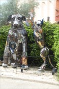Image for Cat and Dog Sculptures - Busch Gardens, Tampa, FL.