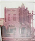 Image for First National Bank - Then and Now - Prague, OK