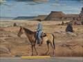 Image for Historic Route 66 - Ranch Scene Mural - Tucumcari, New Mexico, USA.