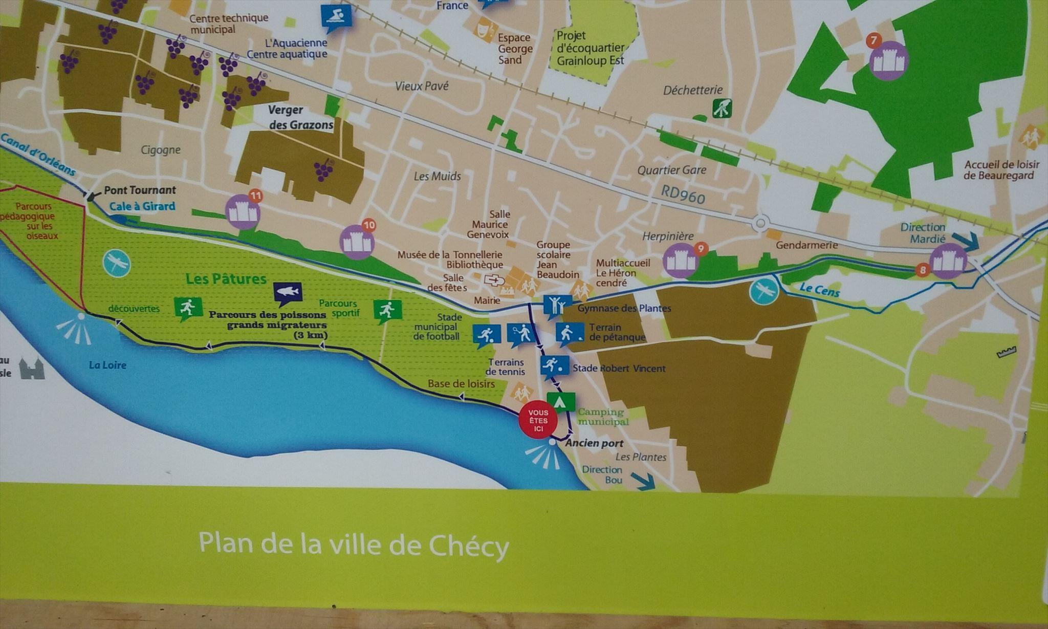 Vous etes ici plan de la ville de ch cy ch cy france for Piscine de checy