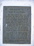 Image for First Masonic Hall Built in California