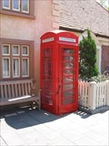 Image for Red Telephone Box Outside Rose & Crown Pub - Epcot, Disney World, FL