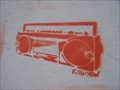 Image for Boombox Stencil - Church St, Dorchester, UK