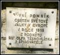 Image for First European WWI Monument - Bilovice nad Svitavou, Czech Republic