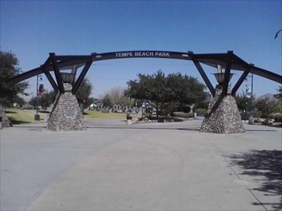Tempe Beach Park Entry Arch Tempe Az Freestanding Arches