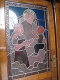 Image for Paroquia Nossa Senhora de Achiropita stained glass door - Sao Paulo, Brazil