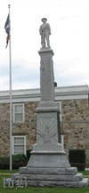 The Warren County Confederate monument stands approximately 20 feet tall.