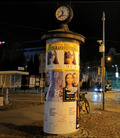 Image for Advertising Column with a Clock - Poznan, Poland