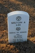 Image for PFC Milton A. Lee, US Army  -- Fort Sam Houston National Cemetery, San Antonio TX