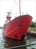 Image for The Helwick Lightship Leaves Cardiff Bay.