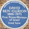 Image for David Ben-Gurion - Warrington Crescent, London, UK
