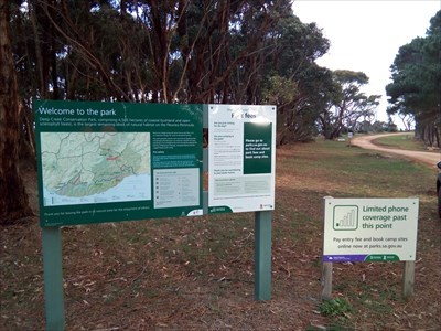 Location view of the map and sign of the Park.1541, Tuesday, 29 May, 2018