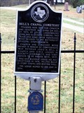 Image for No. 348 - Bell's Chapel Cemetery and First Site of UMC, Rockett, TX