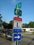 Image for Lincoln Highway Marker - J and 4th Streets - La Porte, IN