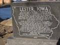 Image for Lester Centennial Historical Marker – Lester, IA