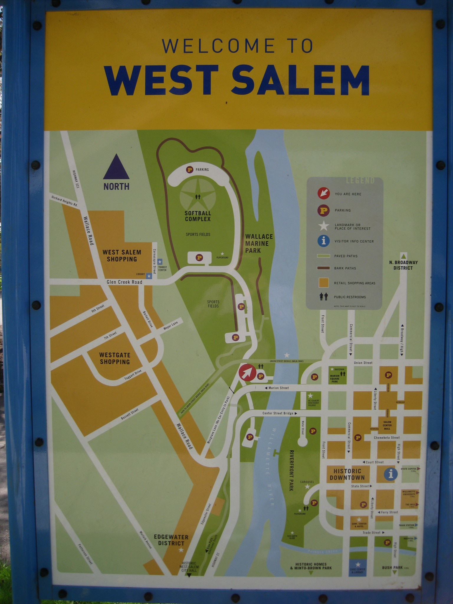 Wallace Park You Are Here map Salem Oregon 39 You Are Here