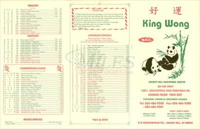 King Wong Chinese Restaurant Cherry Hill Nj