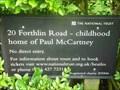 Image for Paul McCartney's Childhood Home, Liverpool, Merseyside, England