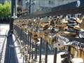 Image for Love padlocks at the Puente Pio Nono - Santiago, Chile