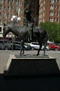Image for Cotter Ranch Bldg statue - Oklahoma City, Oklahoma  USA