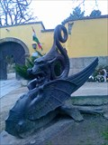 Image for Dragon statue in front of Kiscelli museum  - Budapest, Hungary