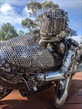 Image for Ken Blake car part sculpture - Strathalbyn SA