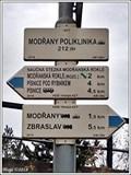 Image for Rozcestník turistických tras - Modrany poliklinika (tram), Praha, CZ