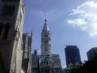 Standing on top of City Hall