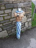 Image for Blue coloured hydrant with face, Kufstein, Tirol, Austria