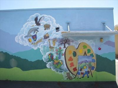 Art Room Door, Almaden Country School, San Jose, California