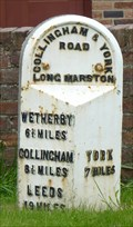 Image for Milestone - York Road, Long Marston, Yorkshire, UK.