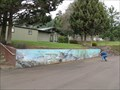 Image for South Santiam Hatchery mural, Sweet Home, OR