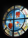 Image for Snoopy's Gallery round stained glass- Santa Rosa, CA