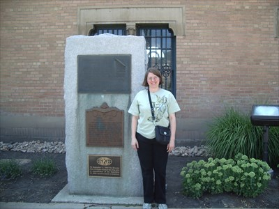 This is me (howarthe) standing next to the dedicatory plaque