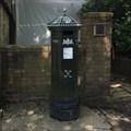 Image for REPLICA Victorian Pillar Box - High Street - Haslemere - Surrey - UK