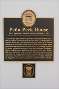 Image for Pena-Peck House-First Spanish Colonial Period, Built ca. 1750