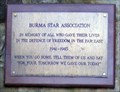 Image for Burma Star Association Plaque, Cooper memorial Garden, Barnsley.