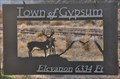 Image for Town of Gypsum Welcome Sign