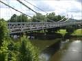 Image for Abandoned eyebar suspension over Muskingum River - Dresden, Ohio