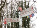 "Image for Bicycle Trail Arrows ""Erft-Radweg"", Knotenpunkt 69, Erftstadt - NRW / Germany"